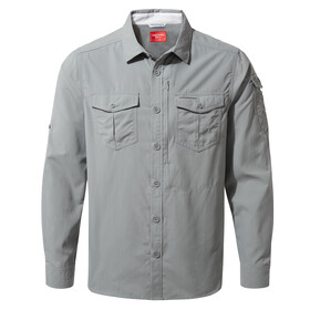 Craghoppers NosiLife Adventure II Camisa de manga larga Hombre, cloud grey